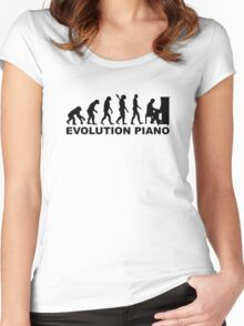 Evolution Piano Women's Fitted Scoop T-Shirt