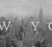 New York Panorama (Back and White) by ONESPARKDESIGN