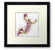 Slam Dunk Red Framed Print