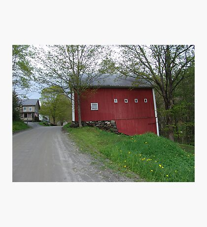 Red barn - West Calais, VT Photographic Print