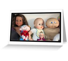 Five Lovely Dolls Greeting Card