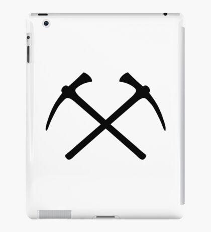 Climbing picks axe iPad Case/Skin