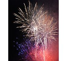 Night Fireworks Photographic Print