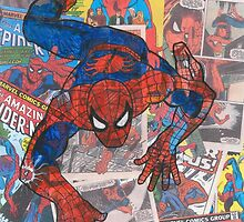 Vintage Comic Spiderman by Daveseedhouse
