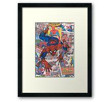 Vintage Comic Spiderman Framed Print