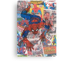 Vintage Comic Spiderman Canvas Print