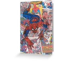 Vintage Comic Spiderman Greeting Card
