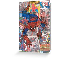 Vintage Comic Spiderman Greeting Card