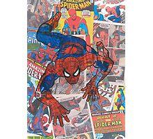 Vintage Comic Spiderman Photographic Print