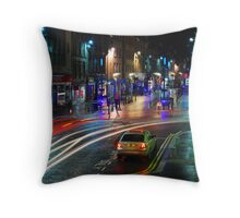 Inverness High Street at night Throw Pillow