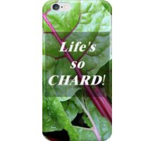 Vegetable Geek Humor Swiss Chard Organic Veggies iPhone Case/Skin