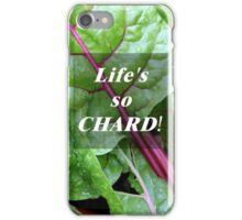 Vegetable Geek Humor Swiss Chard Organic Veggies iPhone Case/Skin