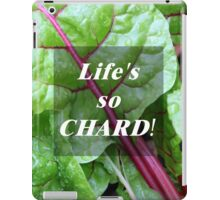 Vegetable Geek Humor Swiss Chard Organic Veggies iPad Case/Skin