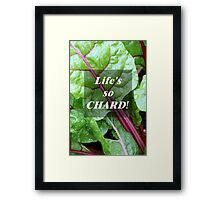Vegetable Geek Humor Swiss Chard Organic Veggies Framed Print