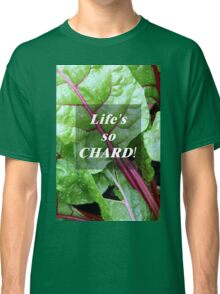 Vegetable Geek Humor Swiss Chard Organic Veggies Classic T-Shirt