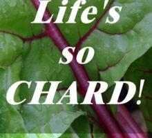Vegetable Geek Humor Swiss Chard Organic Veggies Sticker
