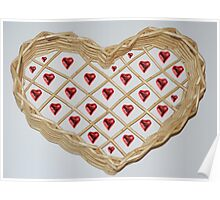 Heart basket Poster