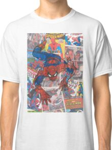 Vintage Comic Spiderman Classic T-Shirt