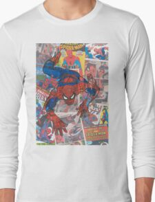 Vintage Comic Spiderman Long Sleeve T-Shirt