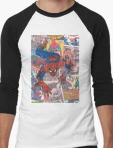 Vintage Comic Spiderman Men's Baseball ¾ T-Shirt
