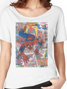 Vintage Comic Spiderman Women's Relaxed Fit T-Shirt