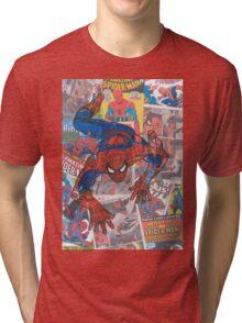 Vintage Comic Spiderman Tri-blend T-Shirt