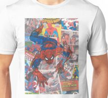 Vintage Comic Spiderman Unisex T-Shirt