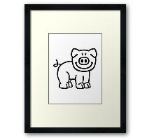 Cute pig Framed Print