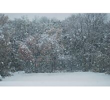 Fall Snowstorm Photographic Print
