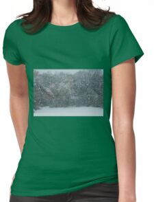 Fall Snowstorm Womens Fitted T-Shirt