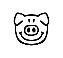 Comic pig face Photographic Print