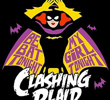 Clashing Plaid - Be My Batgirl!Sticker by DesignsbyKen