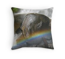 Alien at the end of the Rainbow Throw Pillow