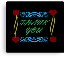 Thank You Card Canvas Print