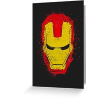 Iron Man splash Greeting Card