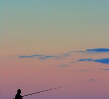 Lone Fisherman by Lisa Lent