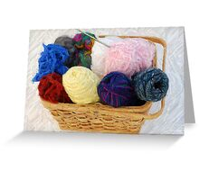 yarn in a basket Greeting Card
