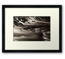 Weir in motion  Framed Print