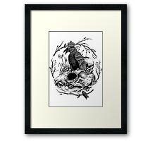 KING OF SKY LINE ART Framed Print