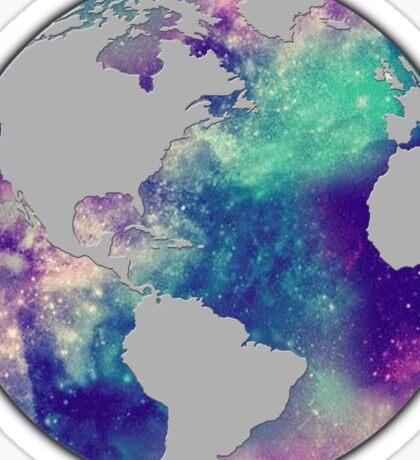 Galaxy Globe Sticker