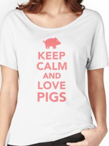 Keep calm and love Pigs Women's Relaxed Fit T-Shirt