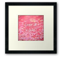 Love and Light Sweet Pink Hearts Blessing Framed Print