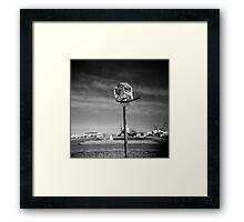 Basketball Net Survivor Framed Print