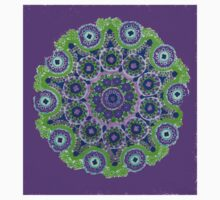 Doily Joy Mandala- Violet Flame Kids Clothes