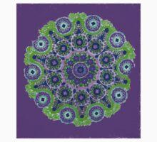 Doily Joy Mandala- Violet Flame Kids Tee