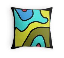 BOLD line, abstract modern art Throw Pillow