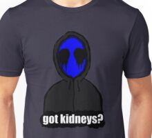 Eyeless Jack Got Kidneys? Unisex T-Shirt