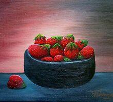 Strawberries by vilma gonzalez