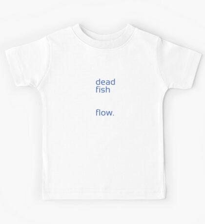 Dead Fish white/blue Kids Tee