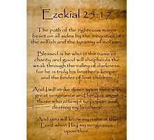 Ezekial 25:17 (Reliced Background) Photographic Print